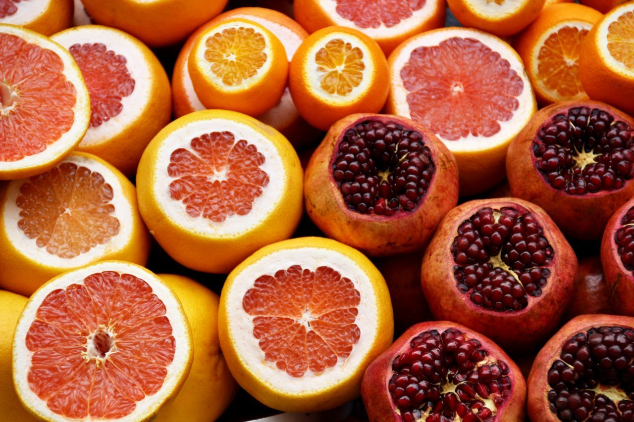 orange grapefruit pomegranate healthy ethical