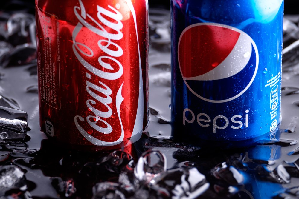 Pepsi Coke and Coca Cola