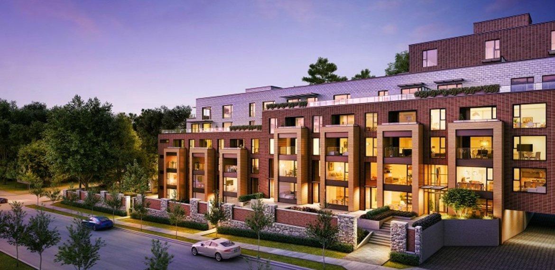 Apartment building presale rendering