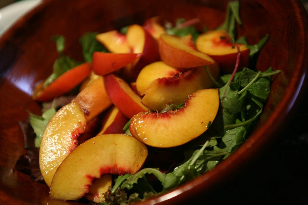 Summer Peach Salad Quick Recipe
