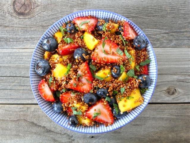 Quinoa Fruit Salad with Honey Lime Dressing