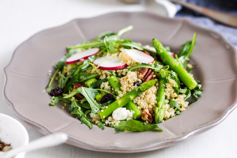 Quinoa Salad Asparagus Orange Clean Eating