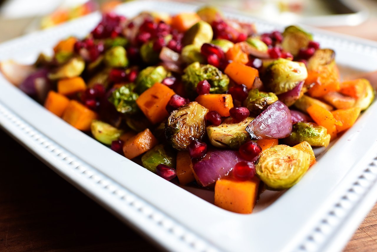 brussels sprouts squash healthy holiday side