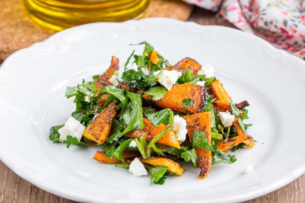 Roasted Pumpkin Arugula Salad Recipe