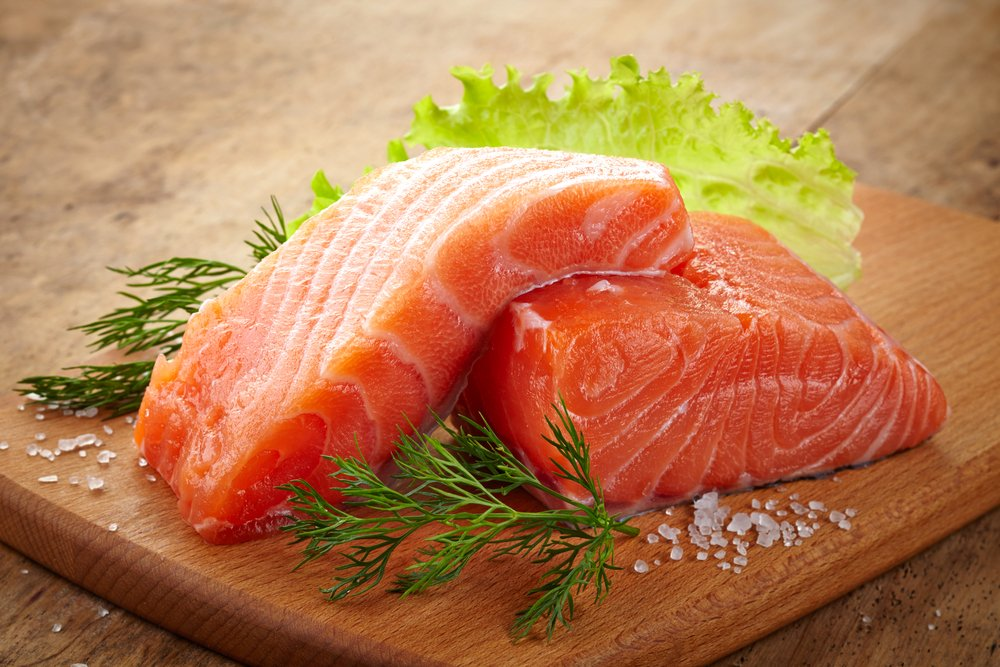 salmon food healthy hair