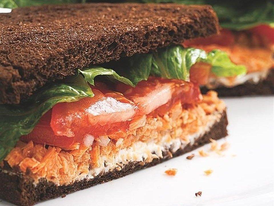 Salmon Salad Sandwich Protein Lunch Recipe