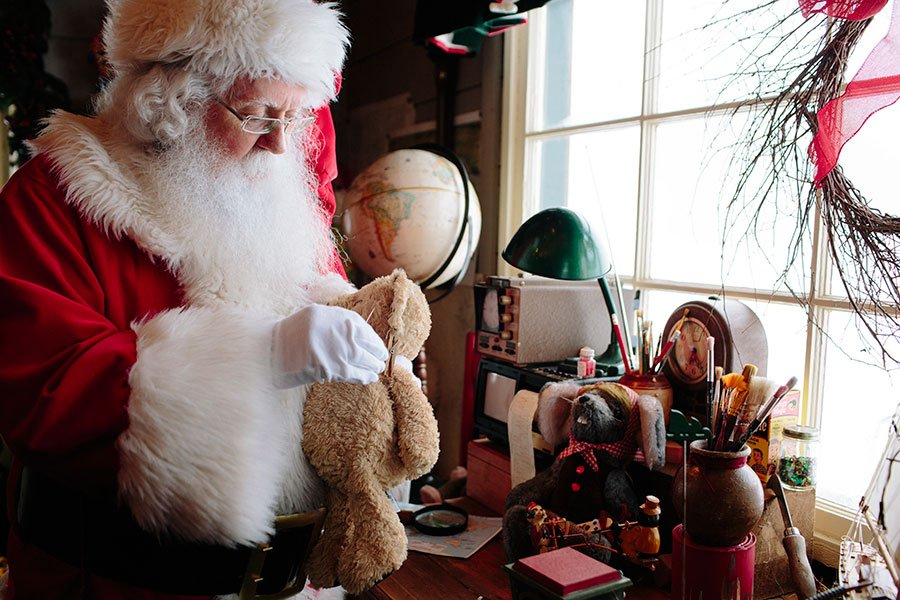 Santa's ready to meet the kids in his workshop. Photo: Grouse Mountain
