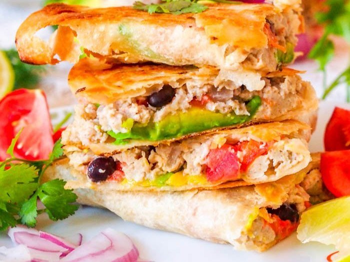 Scrambled Egg Veggie Breakfast Quesadillas Recipe