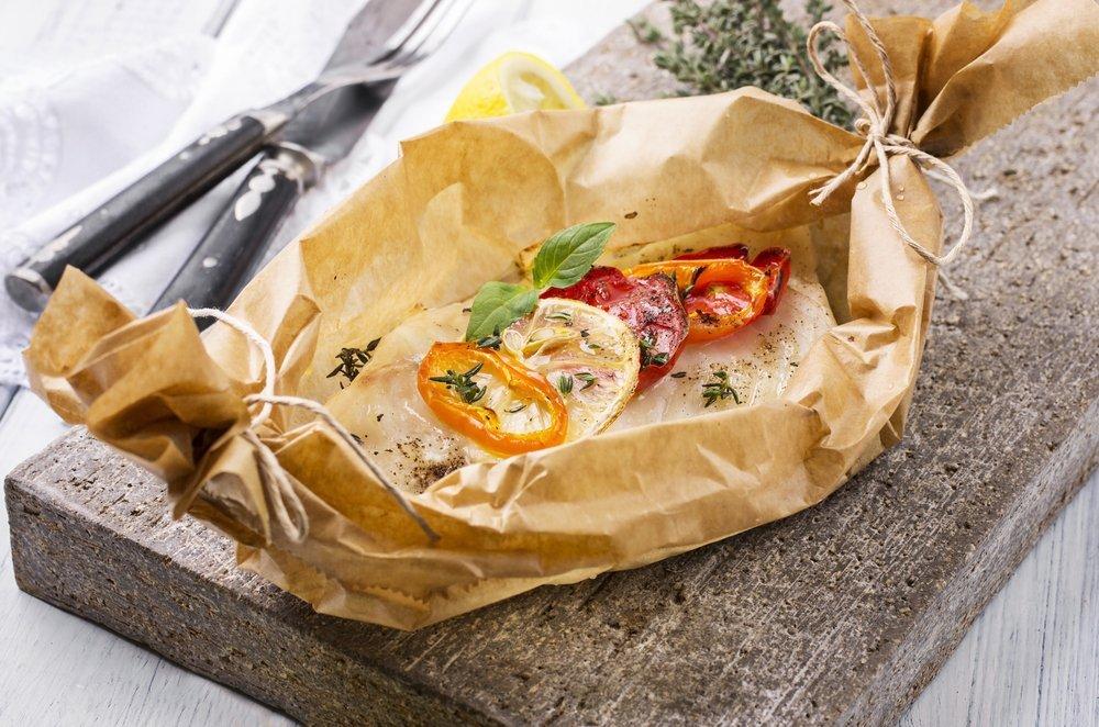 Tilapia en papillote seafood diet