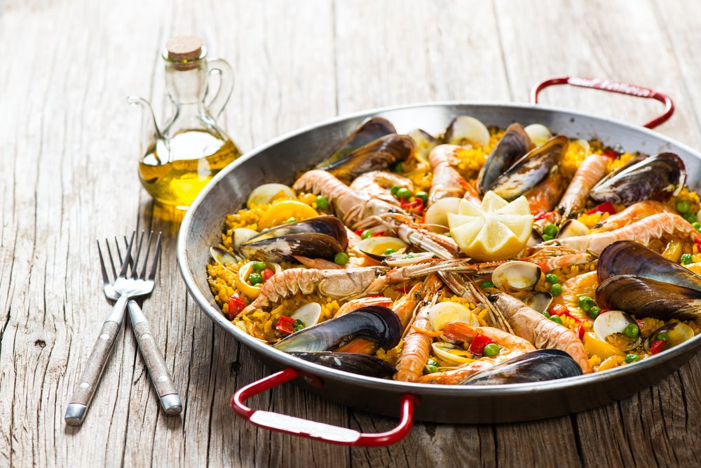 Seafood Paella Healthy Under 500 Calories