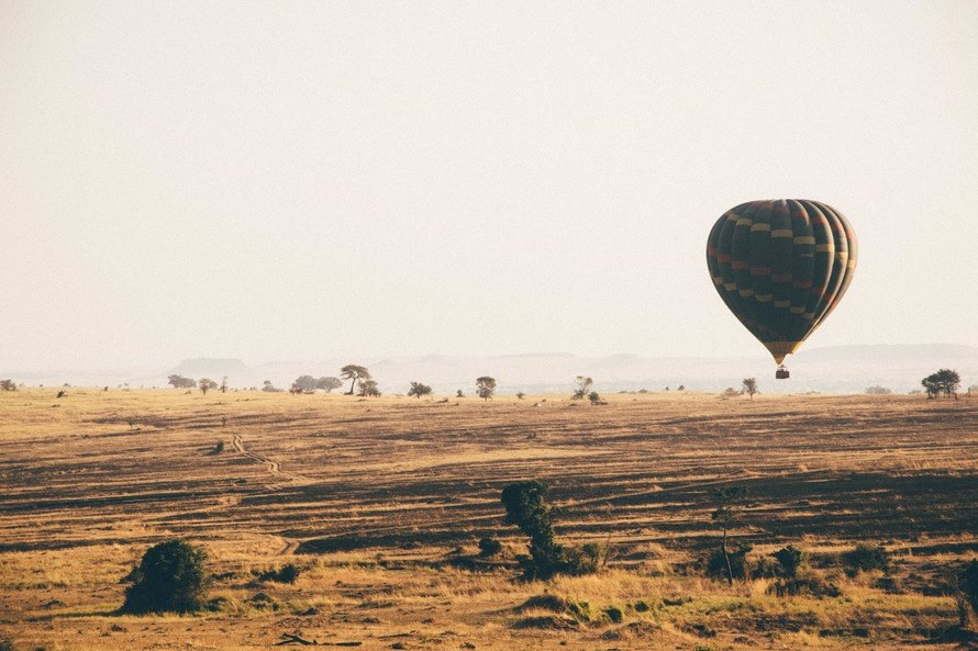 Hot air balloon safari over Africa