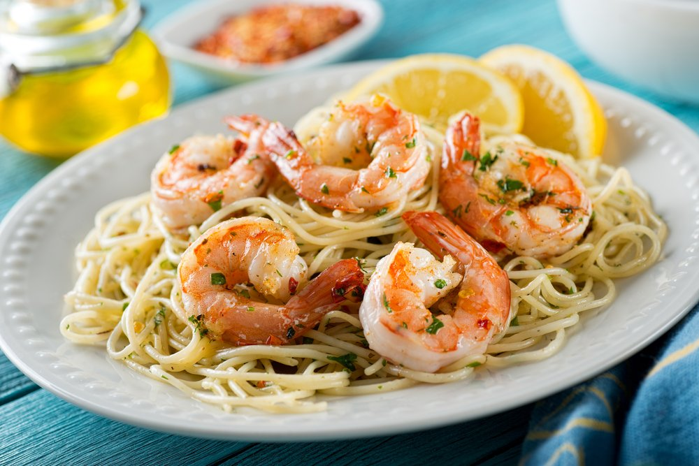 Cooking with shrimp and scallops