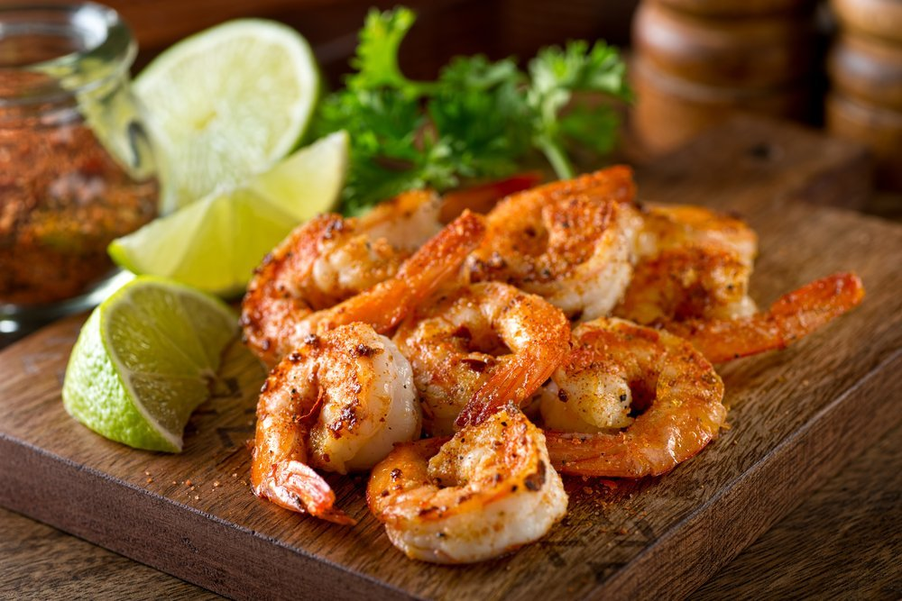 Cajun shrimp with lime