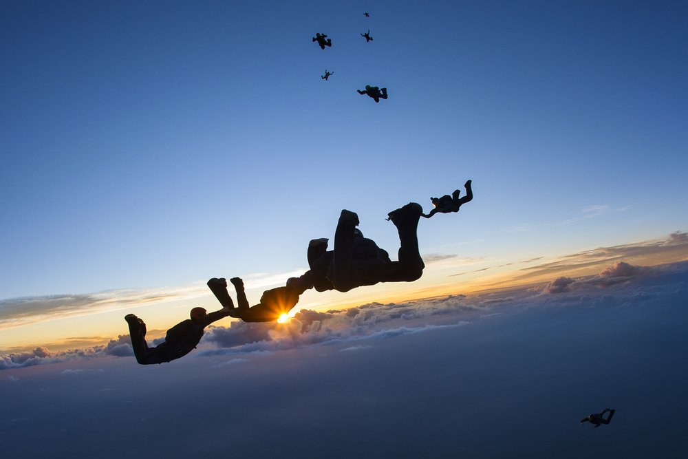 Skydiving Group Midair
