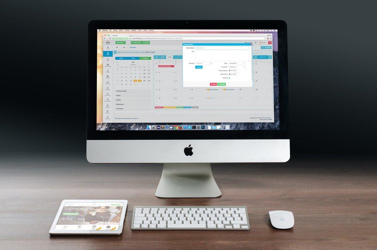 computer screen featuring calendar
