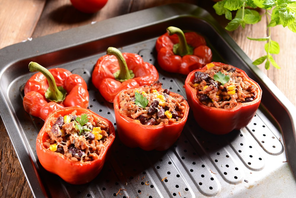 Slow Cooked Stuffed Peppers 500 Calories