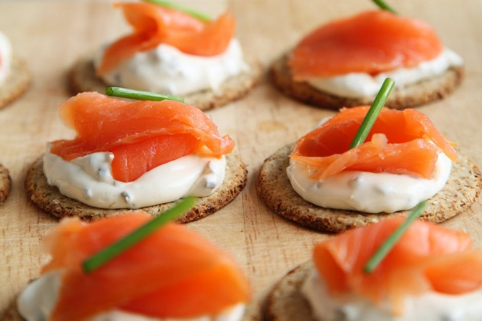 Appetizers with smoked salmon