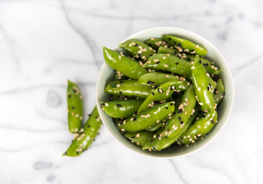 snap peas vegetable side