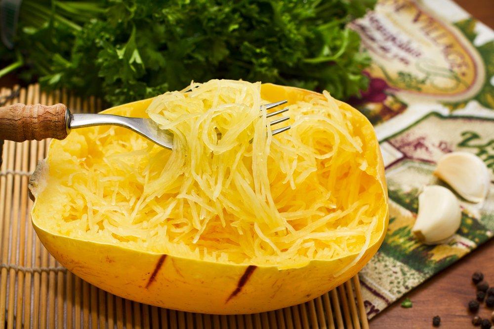 Spaghetti Squash Autumn Vegetable Fish