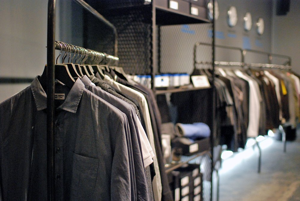 Clothing rack in Roden Gray, Vancouver