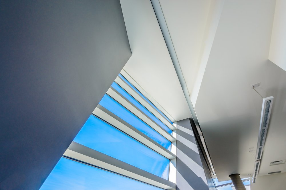 Abstract modern sustainable architecture