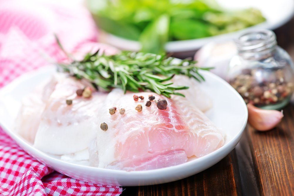 Sustainable fish dish for a pescetarian diet