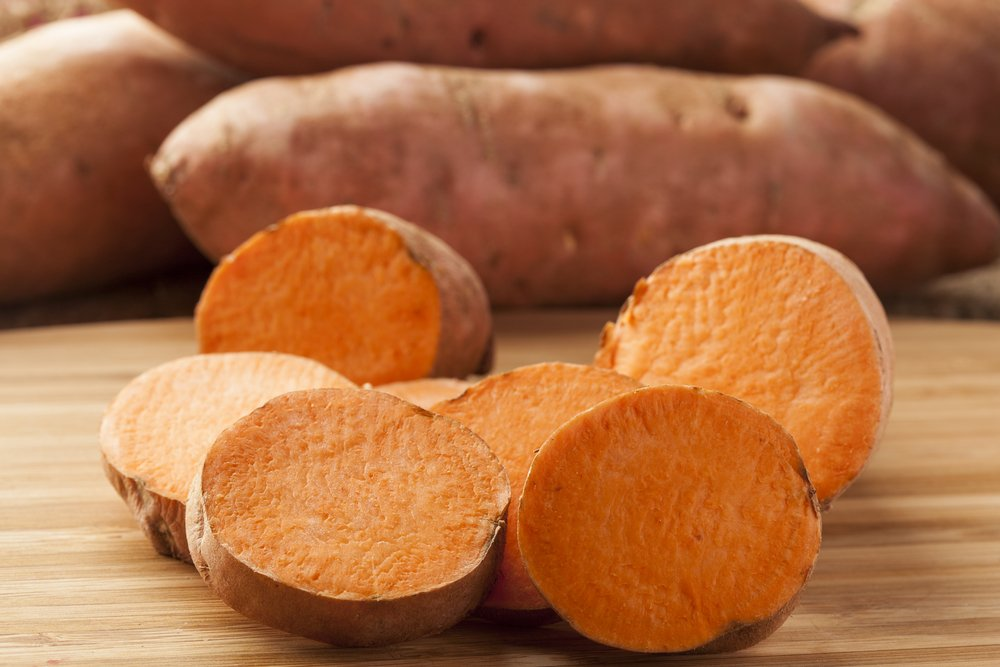 sweet potato healthy skin