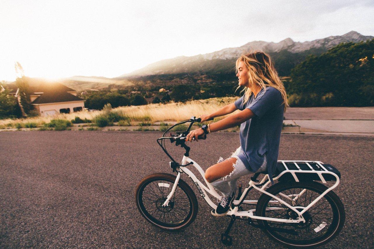 teen bike ride exercise