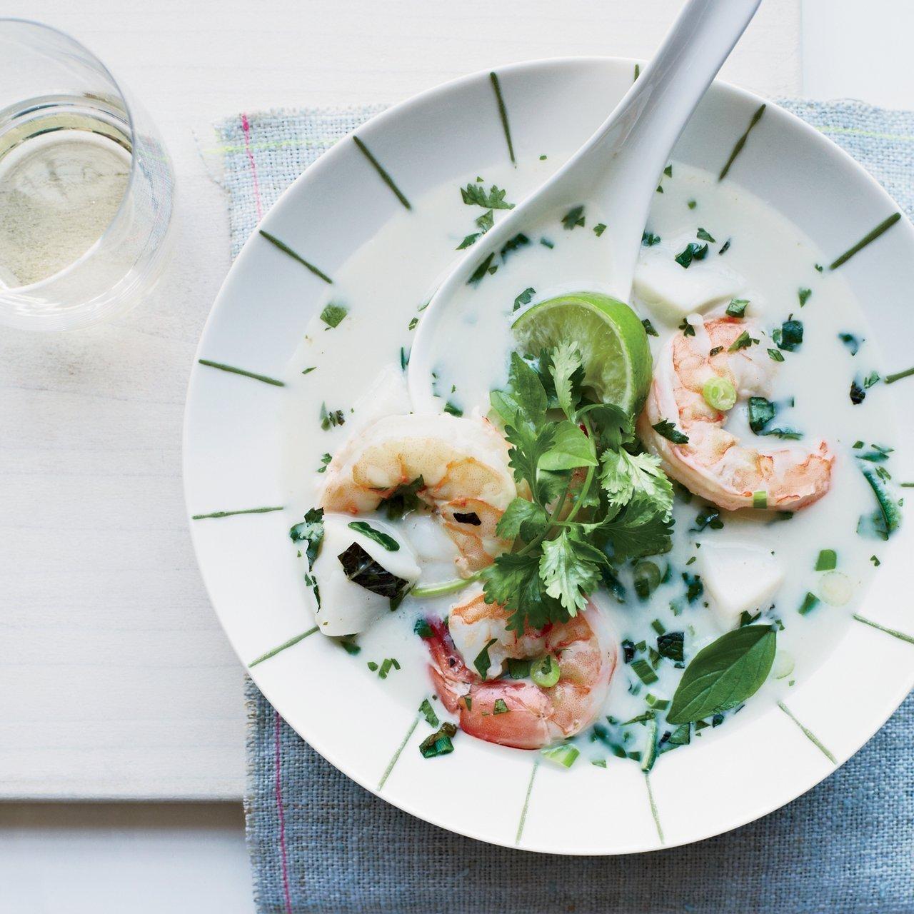 Healthy Thai Coconut Seafood Soup