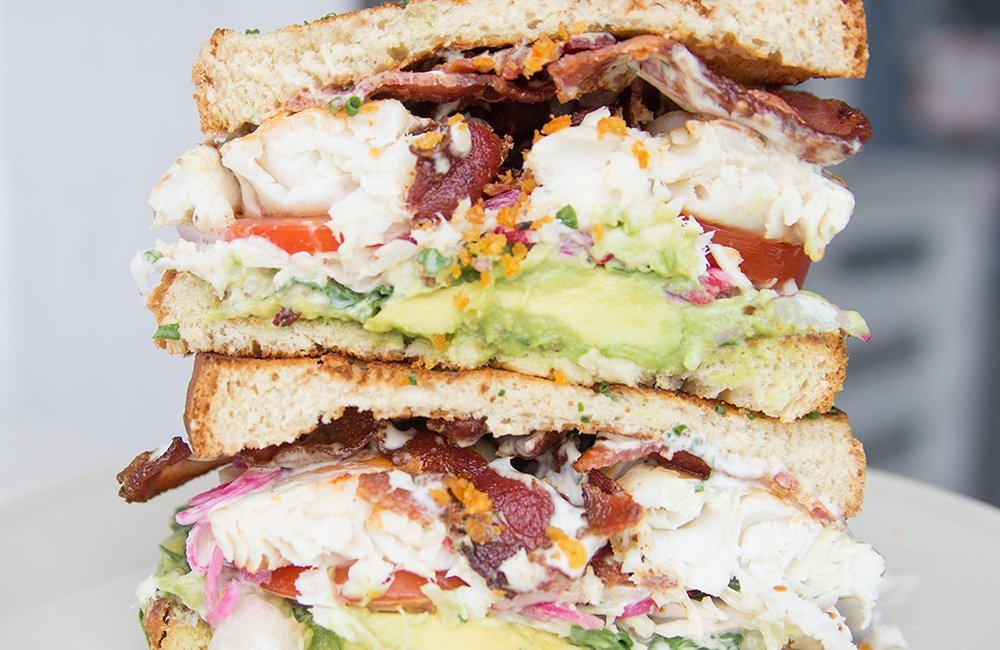 Citrus Poached Tilapia BLT Sandwich