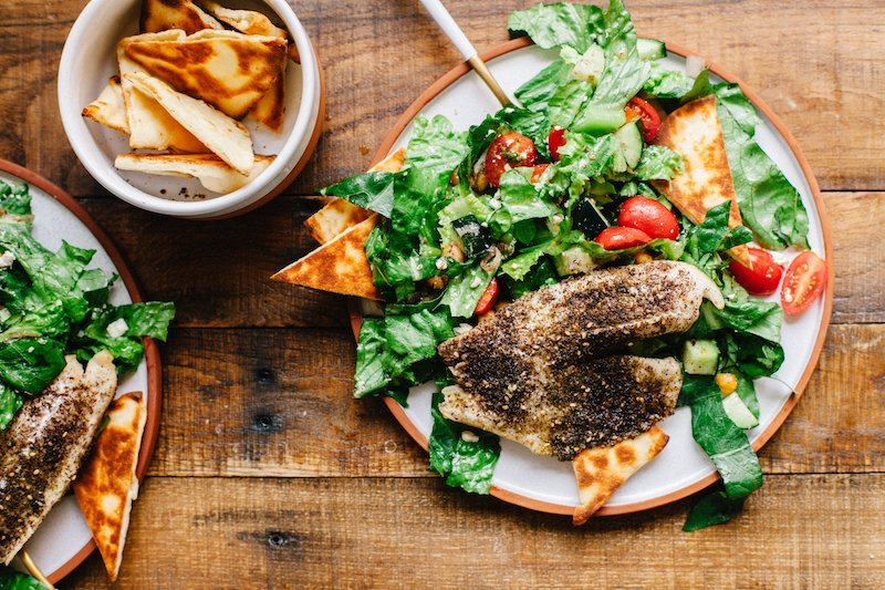 Tilapia Fattoush Salad