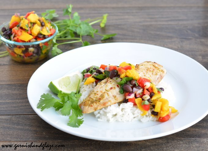 Tilapia with Mango Salsa Tropical Recipe