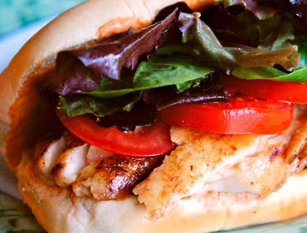 Tilapia Sandwich with Spicy Mayo