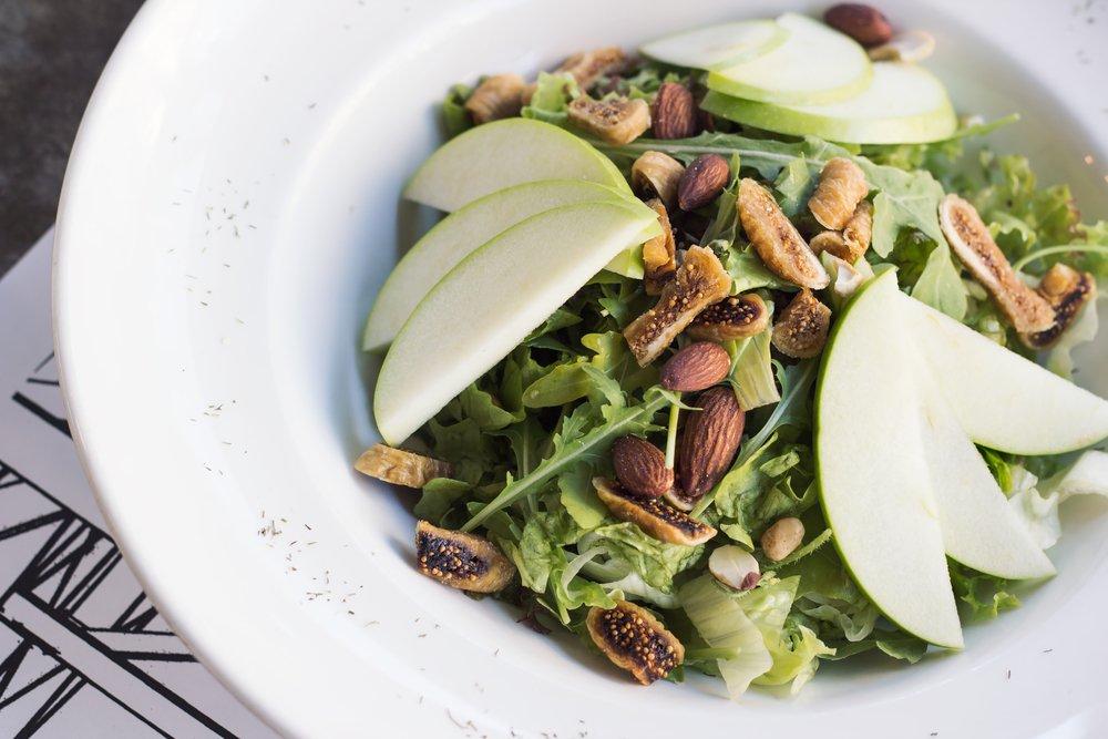 Tilapia Salad Apple Almond Healthy