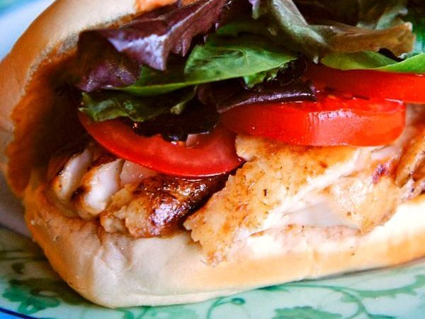 Tilapia Sandwich Spicy Mayo Lunch Recipe