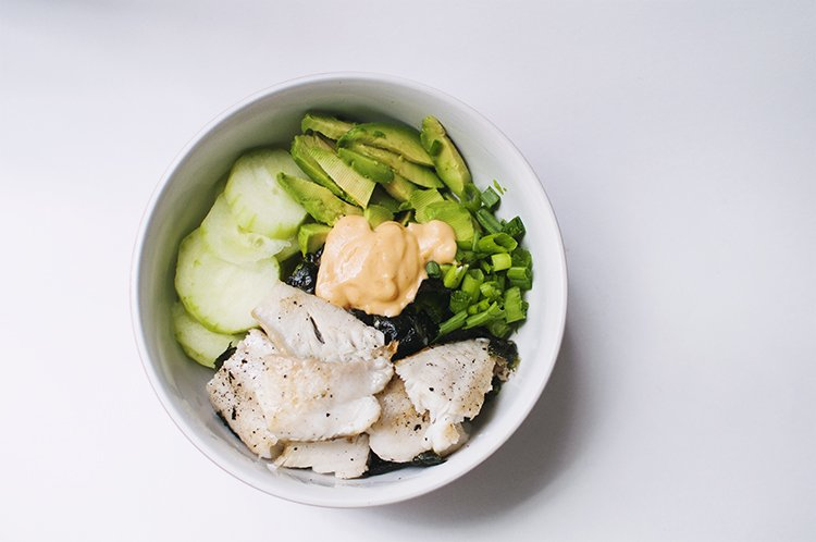 Tilapia Sushi Bowl Asian Recipe