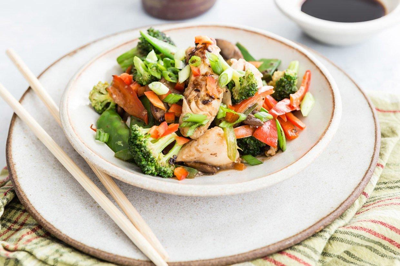 Tilapia vegetable stir fry dish from Regal Springs