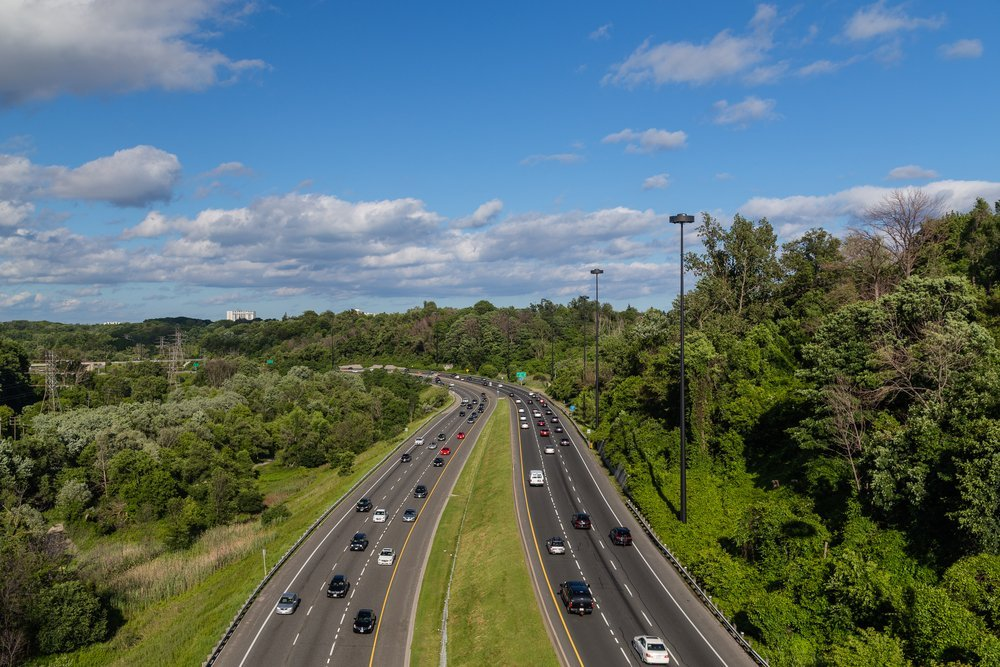 Toronto highway through woods