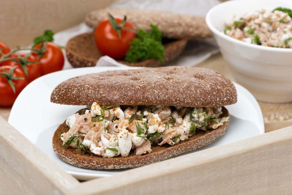 tuna and fennel sandwiches