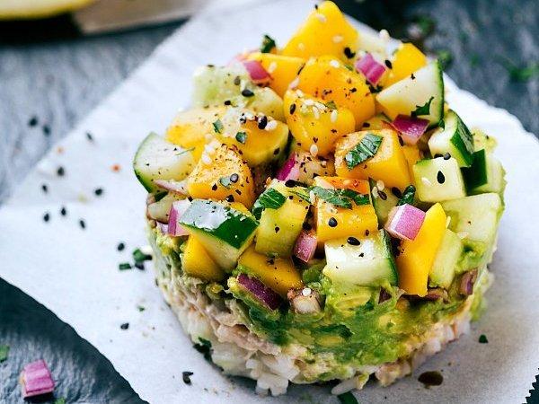 Tuna Sushi Stacks No Cook Recipe