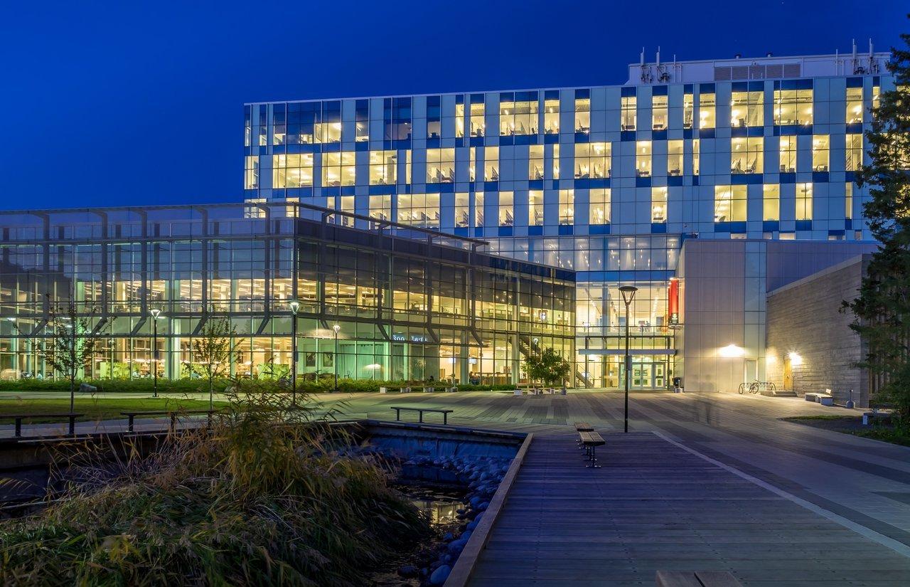 University of Calgary at night