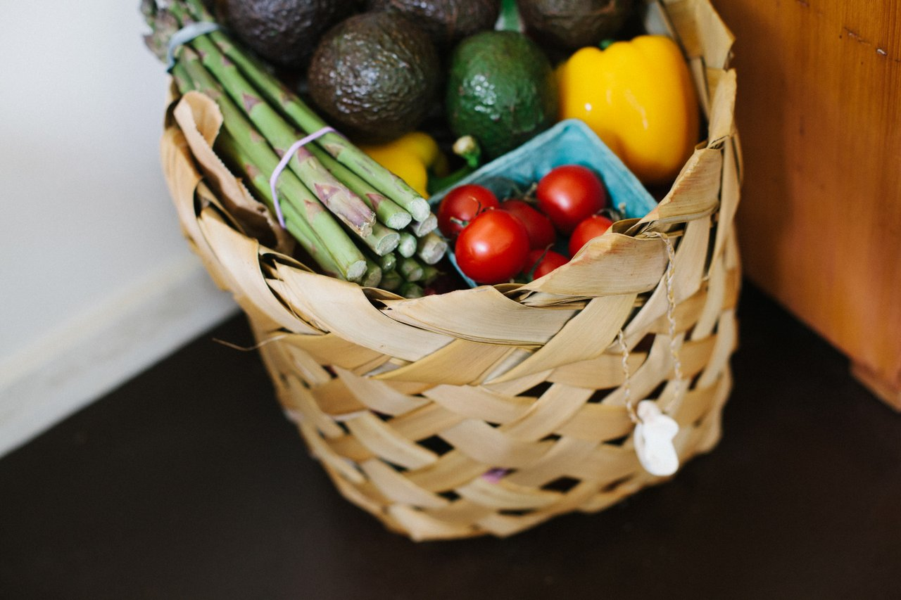 vegetables groceries basket