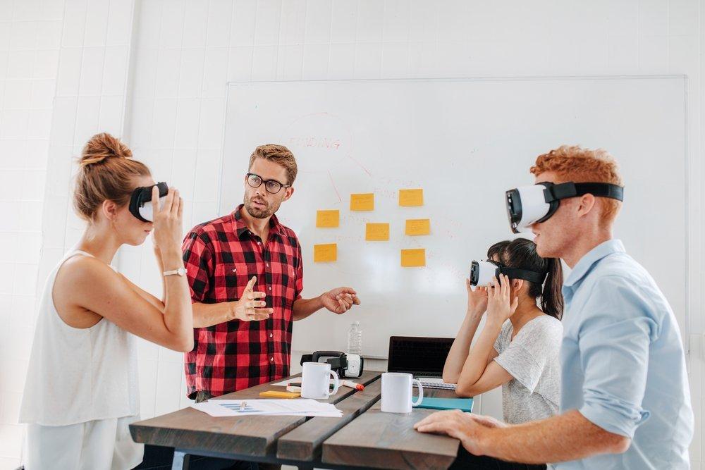 Testing of virtual reality headset