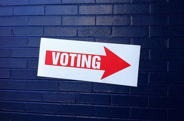voting sign USA