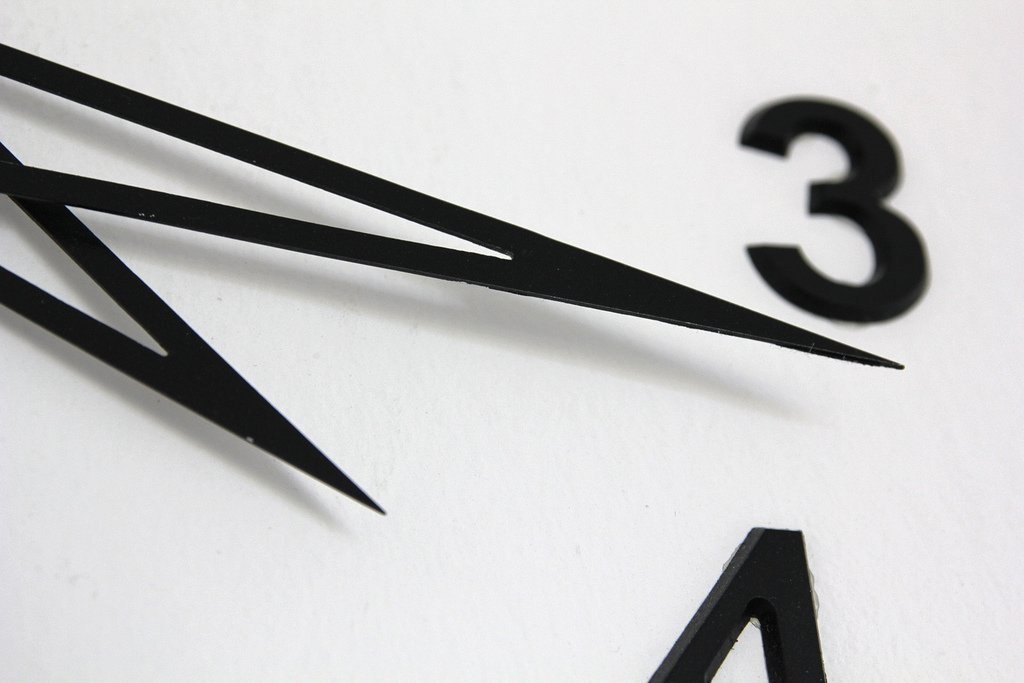 wall clock close up