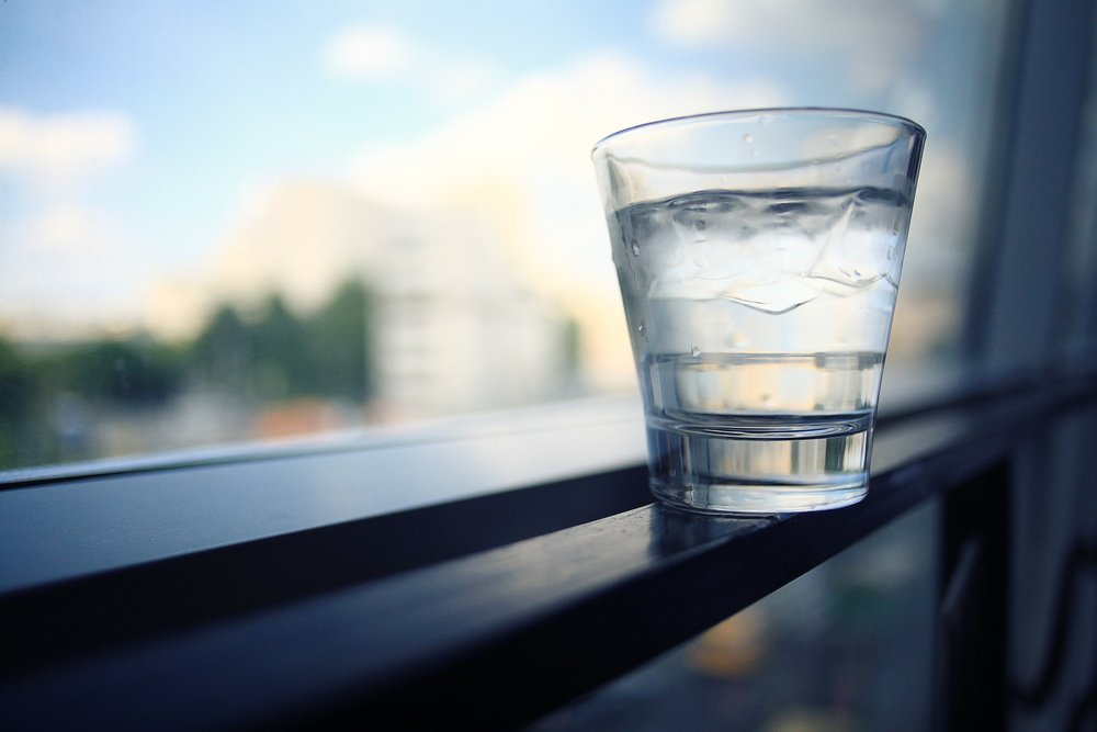 water glass healthy