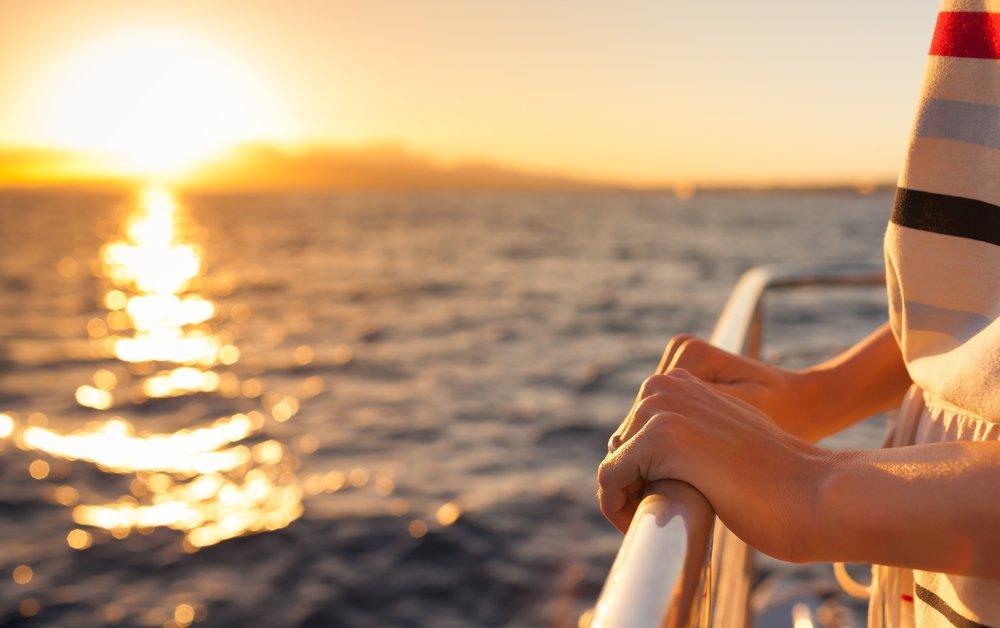 Woman Holding Yacht Railing